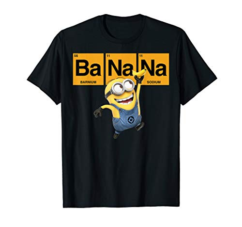 Despicable Me Minions Banana Elemental Square Happy Portrait T-Shirt