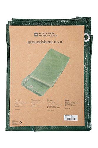 Mountain Warehouse Groundsheet 12x8 - Imperméable à l'eau, tente d'abri de Mildewproof, couverture de verrière d'oeillets en métal, poids léger, paquet facile Tarp camp Vert Taille Unique