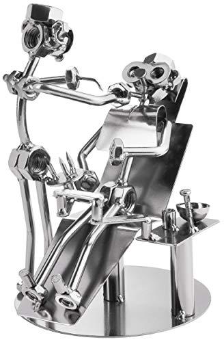 BRUBAKER Schraubenmännchen Zahnarzt - Handarbeit Eisenfigur Metallmännchen - Metallfigur Geschenk für Zahnärzte, Zahnarzthelfer und Zahnarzthelferinnen