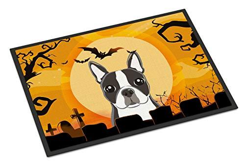 """Caroline Tesoros del Halloween Boston Terrier de Interior o al Aire Libre Felpudo, 24por 36"""", Multicolor"""