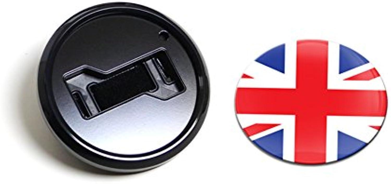 GoBadges BKC012 Flag UK  Magnetic Black Grill Badge Holder Combo Universal Fit No Tools Required WeatherProof And CarWash Safe