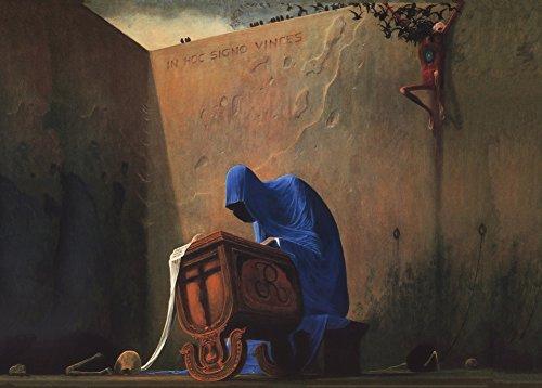 World of Art Global Zdzislaw Beksinski Futurismus Surrealistische Barock-Kunst, Gothic-Kunst, 250 g/m², glänzend, A3