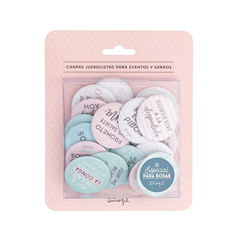 Mr. Wonderful MRW4 - Chapas divertidas para bodas