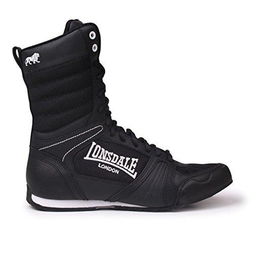 Lonsdale Anwärter-hohe Boxen-Stiefel - Schwarz-weiß UK 9 - EU 43