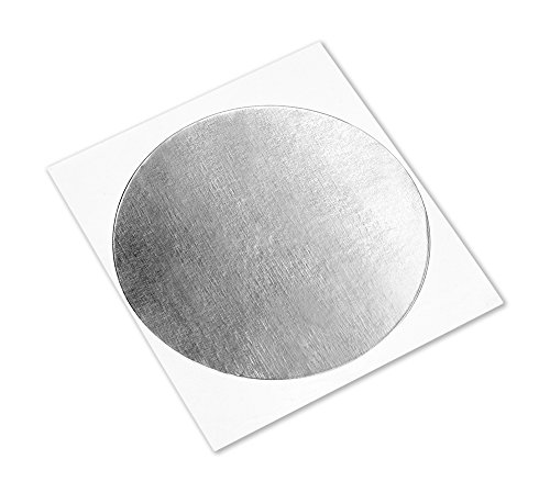 3M 1183 Silver Tin-Plated Copper Foil Tape - 5 in. Diameter Circles, Conductive Acrylic Adhesive Tape for Grounding, EMI Shielding [Pack of 100]