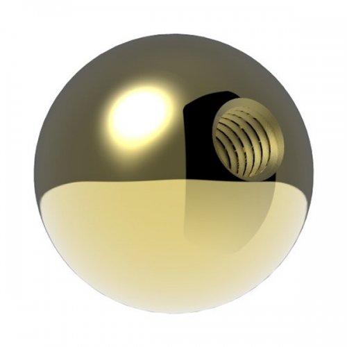 Messingkugel massiv ø 20mm, mit M6 Gewinde, spezialbeschichtet für Innen- und Außenbereich
