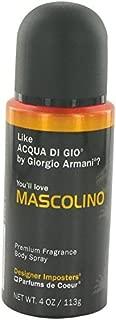 Designer Imposters Mascolino by Parfums De Coeur Body Spray 4 oz for Men - 100% Authentic