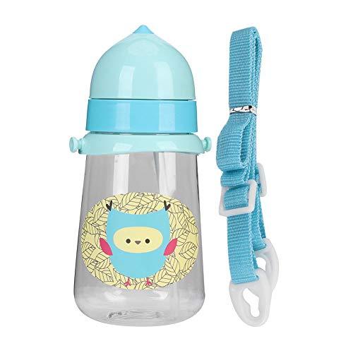 Botella de agua para bebés con paja, botella para beber de paja...