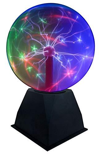 "Lightahead 8"" Crystal Plasma Ball Lamp with Green/Red/Purple/Multi Light Colors Globe Design Touch Sound Sensitive"