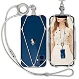 Cell Phone Lanyard, SHANSHUI Slicone Detachable Phone Strap Necklace Lanyard with Finger Holder Phone Charm Compatible with iPhone, Samsung Galaxy, and Most Moblie Phones (Grey)