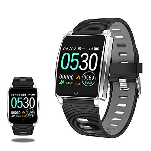 Hombre Mujer Smartwatch,1.3in Pantalla Táctil A Color Rastreador De Actividad IP67 Impermeable,para Android iOS Smartwatch Fitness con Ritmo Cardiaco Monitorización del Sueño Podómetro-A