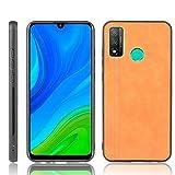 Zhangl Fundas Huawei For 2020 / Nova Lite 3+ Prueba de Golpes de Costura Modelo de la Vaca de la Piel de la PC + Caja de la PU + TPU Huawei P Inteligentes Fundas Huawei (Color : Naranja)