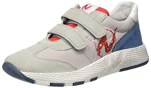 Naturino Jungen Jesko VL Leichtathletik-Schuh, Grigio Grigio Rosso Azzurro 1b22, 32 EU