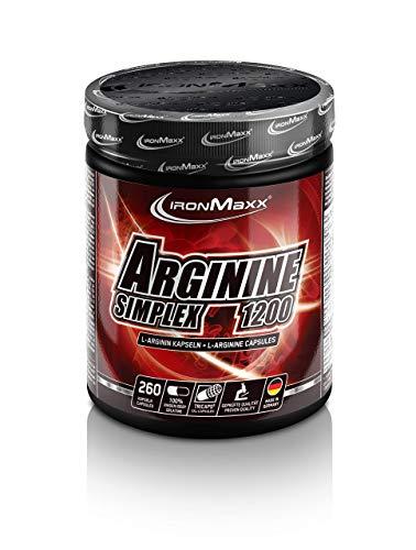 IronMaxx Arginin Simplex 1200 – Sehr hohe Konzentration von L-Arginin Aminosäuren – Ideal für Bodybuilding – Muskelaufbau, Kraftaufbau und Ausdauertraining –...