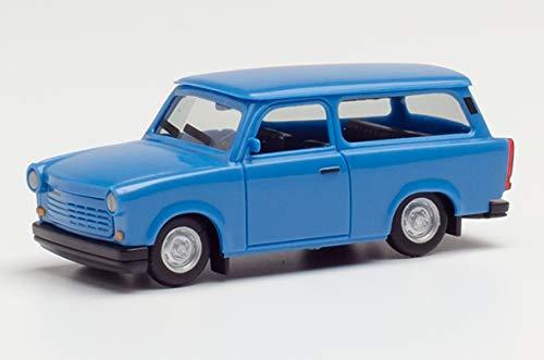 herpa 027359-003 Trabant 1.1 Universal, olympiablau in Miniatur zum Basteln Sammeln und als Geschenk