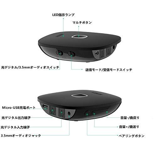 Aukey『Bluetoothトランスミッター&レシーバー(BT-C6)』