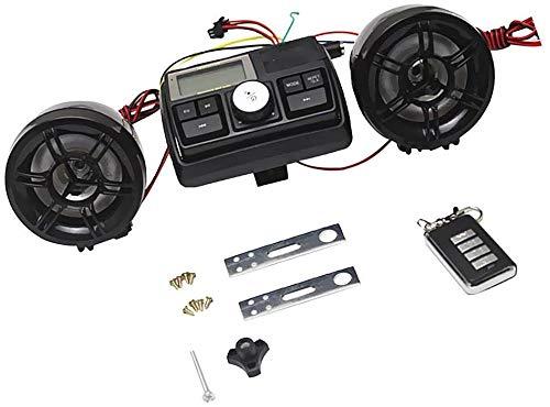 DSGYZQ Kit Moto Altavoz de Audio MP3 USB Sistema de Radio FM 12V Impermeable