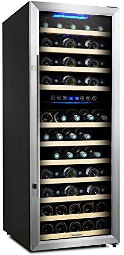 Kalamera KRC-73BSS Design Cave à vin réfrigérée 2 zones 73 bouteilles (jusqu'à 310 mm de...