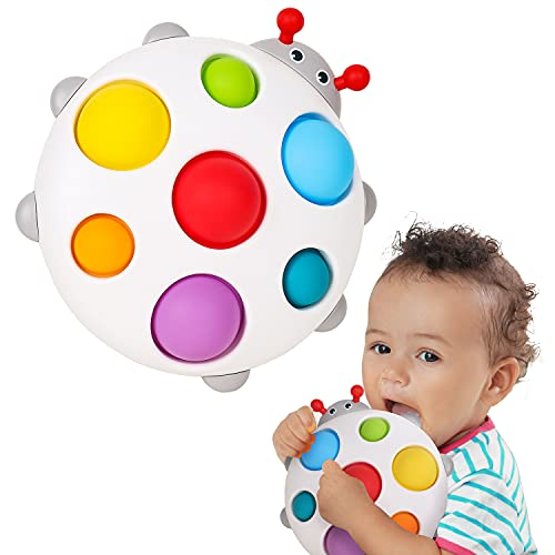 ALASOU 2021 New Silicone Flipping Busy Board  Baby Fidget Toy, Baby Sensory Toys for Toddler 1-3,  Sensory Toys for 1 Year Old  Travel Toy for 6-12 Months (Farm)