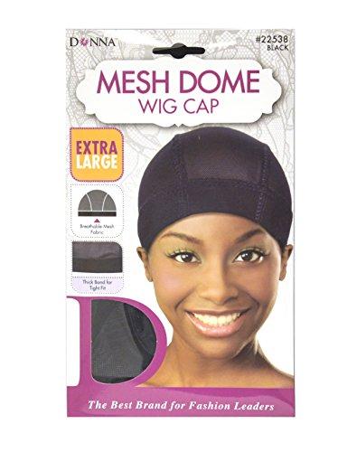 Donna Bonnet de perruque dôme en maille (XL)