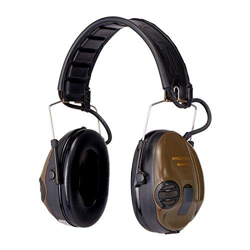 3M Peltor SportTac, Orejeras de protección, protector auditivo, 26 dB, plegable, 1 unidad/caja, Verde (Green) ✅