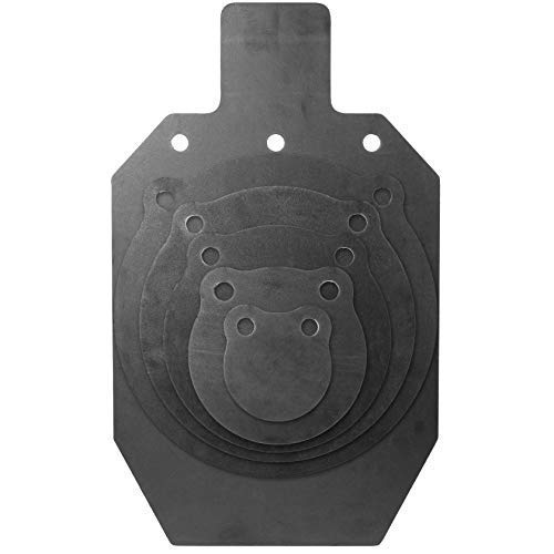 KRATE Tactical AR500 Steel Shooting Targets  3/8quot Metal Silhouettes amp Gongs for Shooting Range amp Gun Practice with Rifles Handguns Shotguns