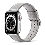 Tasikar Armband Kompatibel mit Apple Watch Armband 38mm 40mm Leder und Flexiblem Silikon Design...