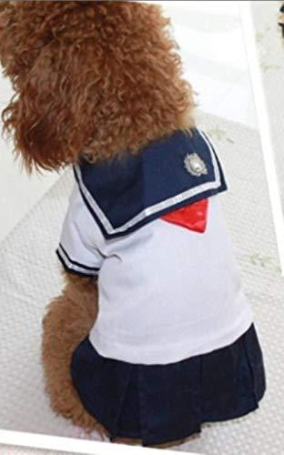 GOUSHENG-Costumes Abiti Animali Domestici Simpatici Vestiti Per Cani Per Cani Di Piccola Taglia Vestiti Per Cuccioli Cane Da Marinaio Costume Uniforme Per Gonne Chihuahua Yorkies Vestiti Per Cani 2A30