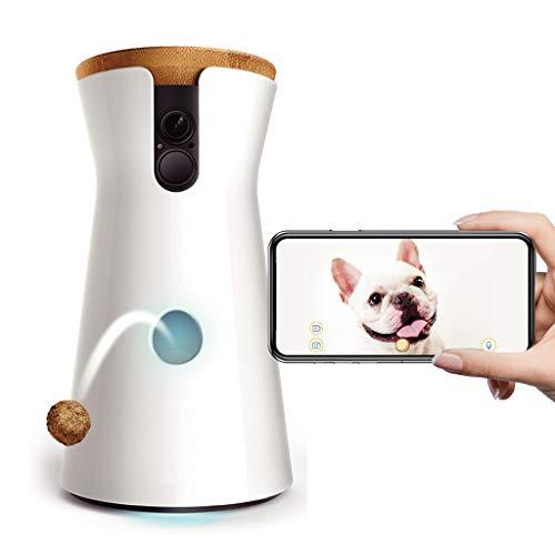 Hundekamera: Full HD WiFi Haustierkamera mit Leckerli Ausgabe, 2-Wege-Audio und Bell-Alarm