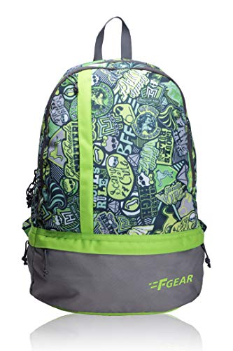 F Gear Burner P2 25 Ltrs Green Casual Backpack (1961)