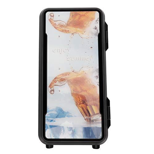 FOLOSAFENAR Disipación de Calor rápida Refrigerador de diseño de una Sola Puerta Calentador de refrigerador portátil confiable Mini, para Almacenamiento, para conservación de(Standard Black 18w)