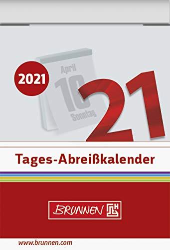 BRUNNEN 1070301001 Tages-Abreißkalender Nr. 1, 1 Seite = 1 Tag, 40 x 58 mm, Kalendarium 2021