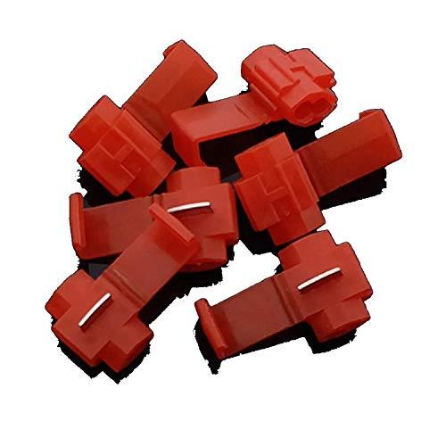 Haushaltswerkzeuge, Langlebige Schnellspleißdrahtverbinder, Schnellspleißdrahtklemmen Kaltgepresste isolierte Schnappverriegelung Elektrische Drahtcrimpverbinder Kabelverbinder rot für AWG 22-18.500