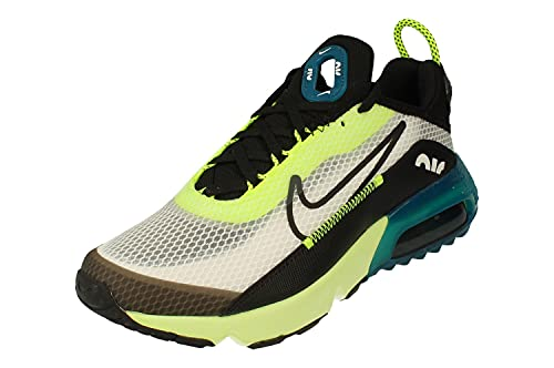 Nike Air Max 2090 GS Running Trainers CJ4066 Sneakers Scarpe (UK 4 US 4.5Y EU 36.5, White Black Volt Blue 101)