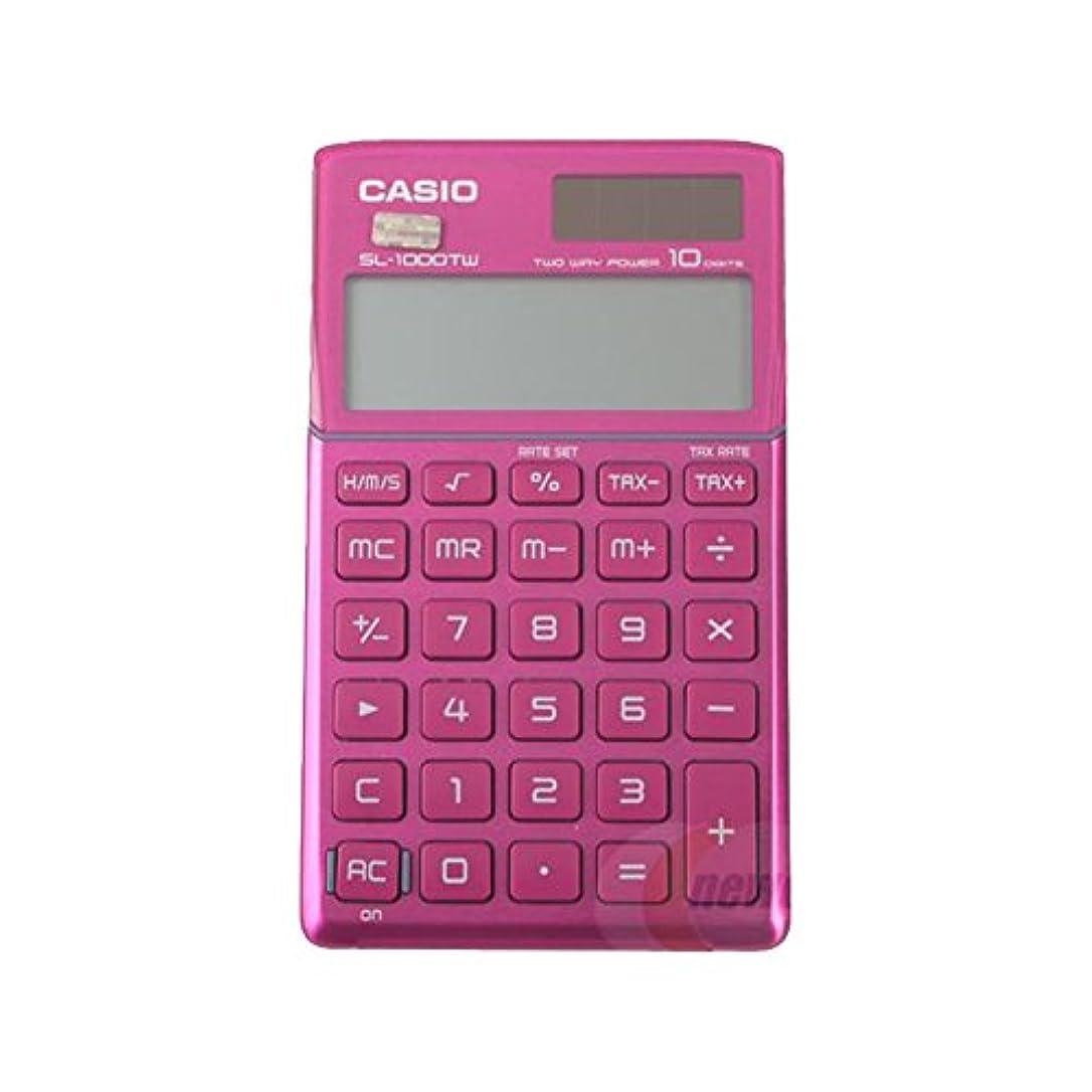 リビジョン思慮のない真面目なCasio SL-1000TW-PK 電卓10桁ビッグLCDディスプレイ SL1000TW ピンク [並行輸入品]