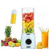 batidora portátil batidora eléctrica de frutas taza personal, seis cuchillas, recargable por USB, para batidos, frutas,...