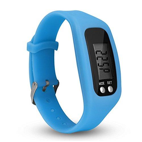 Alicer LCD Fitness Armband,Wasserdicht Fitness Tracker Smartwatch Schrittzähler Uhr Sportuhr für Damen Herren(Lake Blue)