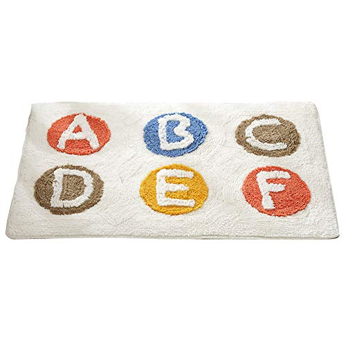 Minions Boutique - Felpudo de algodón suave para la entrada de la puerta, absorbe el agua, alfombra de cocina, felpudo para puerta de entrada, sala de estar, antideslizante