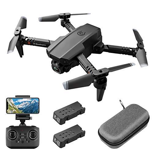 Mini drone con Telecamera HD 1080P FPV per adulti, quadricottero pieghevole RC con controllo gestuale, mantenimento dellaltitudine, modalità senza testa, ribaltamenti 3D, custodia per il trasporto