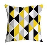 Aiserkly Copricuscino giallo con ananas e foglie, decorazione per divano e auto, 45 cm x 45 cm, Poliestere, Multicolor-k, 45cmx 45cm/18'x 18'