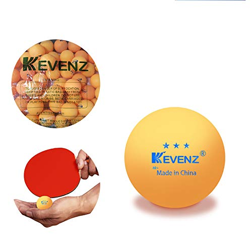 Review KEVENZ 50 Packs Advanced Orange Training Ping Pong Ball,3 Star 40+mm Practice Table Tennis Ba...