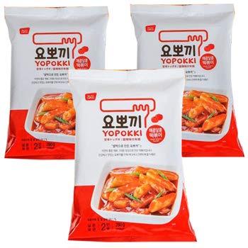 ヨポキ ヨッポギ トッポキ 甘辛味 280g (2人前) X 3個 韓国グルメで人気の「トッポギ」を、手軽に楽しめるインスタント食品