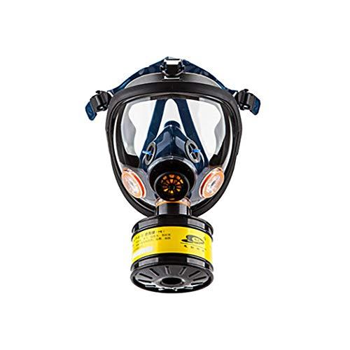 Máscara De Gas Cara Completa Silicona Filtro De Carbón Activado Doble Filtro Protección De Ojos Puede Usarse para Gases OrgánicosEtc,A