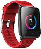 GPWDSN Fitness Tracker 1.28 pantalla táctil fitness reloj inteligente actividad seguimiento sueño Monitor paso calorías contador podómetro impermeable IP67 reloj deportivo