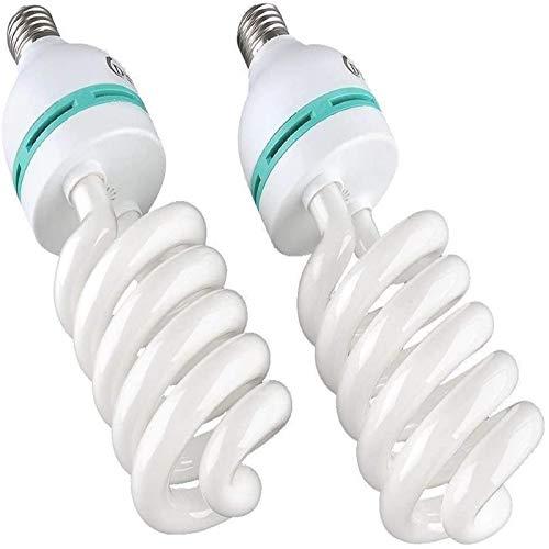 MVPower 2x135W 5500K 22OV Fotolampe CFL Tageslichtlampe Wärme Spirallampe E27 Birne für Fotografie Fotostudio Studiobeleuchtung