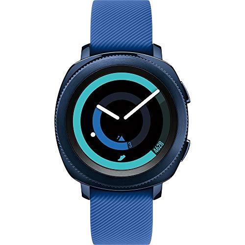 SamsungGear Sport Smart Watch (GPS) 43mm Aluminum Case, Blue(Renewed)