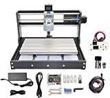 RATTMMOTOR CNC 3018Pro 3 Axis CNC Router Kit with GRBL CNC Offline Controller DIY Mini CNC Acrylic PVC PCB Plastic Wood Router Engraving Carving Milling Machine Working Area 300x180x45mm