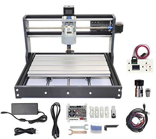 RATTMMOTOR 3 Axis CNC 3018 PRO GRBL Control DIY Mini Engraving Milling Router Machine+ER11 Collet+CNC Offline Controller Working Area 30x18x4.5cm for Engraving Plastic, Wood, Acrylic, PVC, PCB, Woo