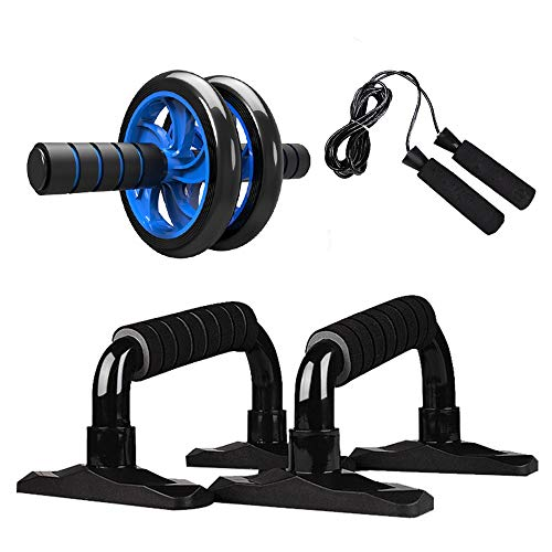Why Should You Buy N/B Wangleiujm Muscle Trainer Abdominal Roller Kit with Push-up Pole Jump Rope an...