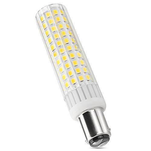 BA15D LED Light Bulb 8W 1150lm,Equivalent Halogen Bulbs 100W-120W, AC 120V, for Ceiling Fan, LED Globe Bulbs, Lndoor Lighting, Dimmable Warm White 3000k